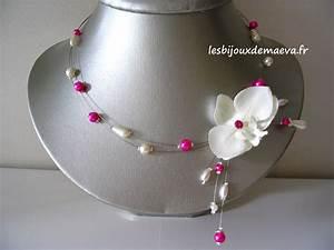 bijoux mariage fushia collier fantaisie pour mariage orchidee With bijoux fantaisie mariee