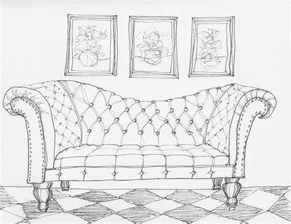 Drawing Sofa Furniture Copic Line Chair Marker