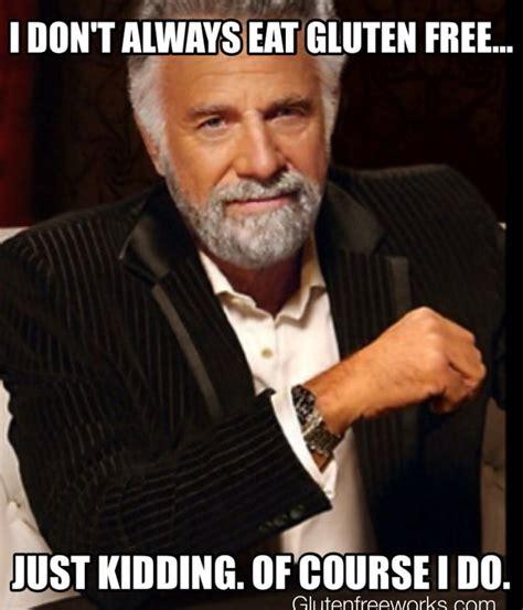 Gluten Free Meme - gluten free funny meme cartoon dos equis food humor pinterest