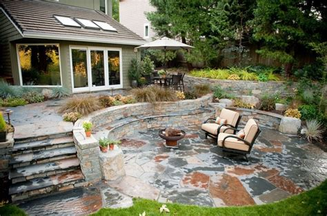 Outdoor Patio Landscaping by Flagstone Patio Benefits Cost Ideas Landscaping Network