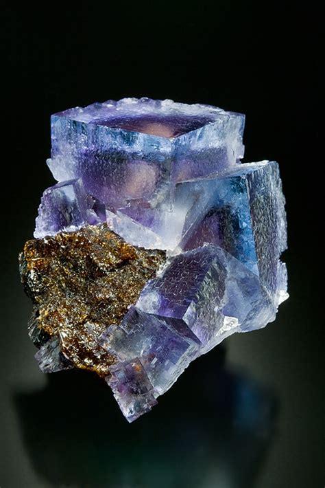 fluorite on sphalerite minerva no 1 mine cave in rock