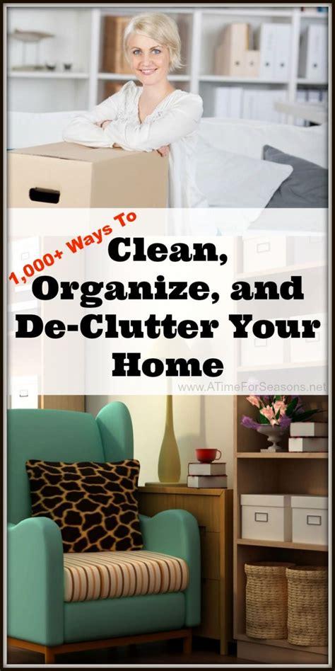 ways  clean organize  de clutter