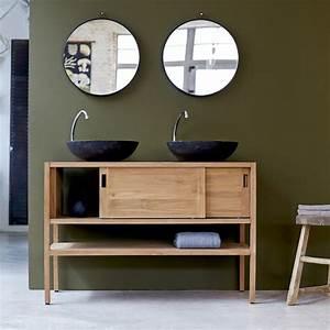 Salle De Bain Meuble : meuble sous vasque teck brut vente meubles sous vasque ~ Dailycaller-alerts.com Idées de Décoration
