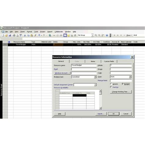 how to create a project budget how to create a budget in microsoft office project