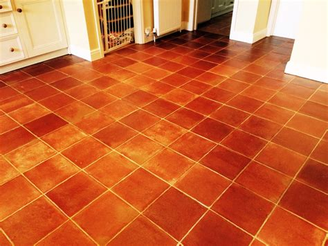 Terracotta Tiled Kitchen Floor Deep Cleaned And Sealed In Kitchen Storage Ideas Diy Country Wallpaper Patterns Cute Kitchens Red House Menu Faucet Style Kays Johns