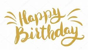 Feliz cumpleaños Letras dibujadas a mano Plantilla de tarjeta de felicitación Vector de