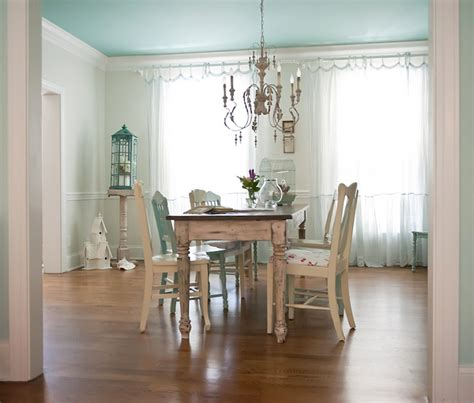 shabby chic dining room paint the right wall to paint an accent color the decorologist