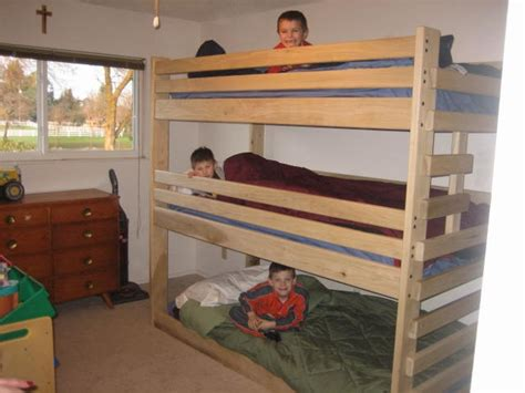 free triple bunk bed plans woodworking projects plans