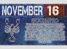 November 16 Zodiac Birthday Horoscope Personality