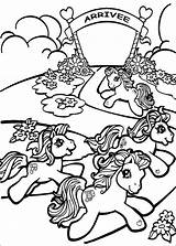 Coloring Pony Horse Running Colouring Hellokids sketch template