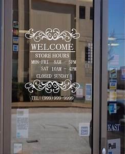 business hours custom window decal and 44 similar items With custom window lettering for business