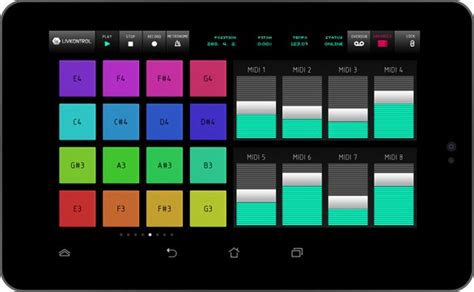 ableton live now from android livkontrol
