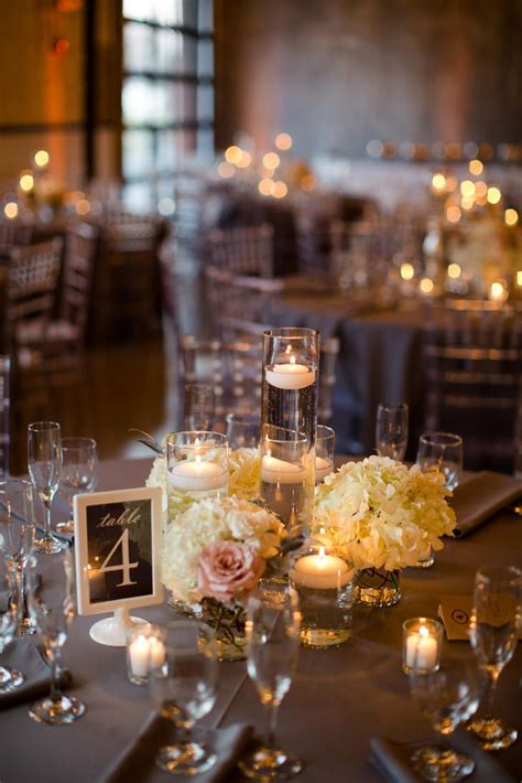 ideas  floating candle centerpieces