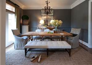 Grey Dining Chair Slipcovers by Gray Rooms Traditional Dining Room R Higgins Interiors