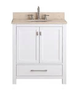 avanity modero single 30 inch traditional bathroom vanity white