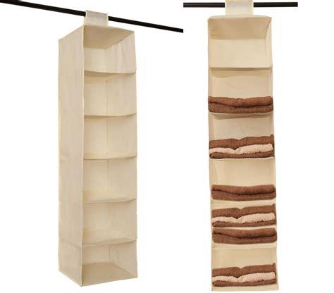 6 Section Shelves Hanging Wardrobe Shoe Garment Organiser