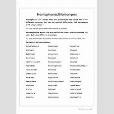 Homophoneshomonyms Worksheet  Free Esl Printable Worksheets Made By Teachers