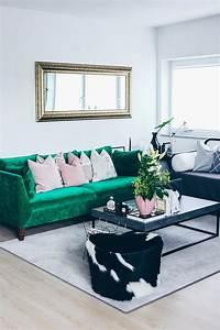 unsere neue wohnzimmer einrichtung in grun grau und rosa With balkon teppich mit tapete industrial chic