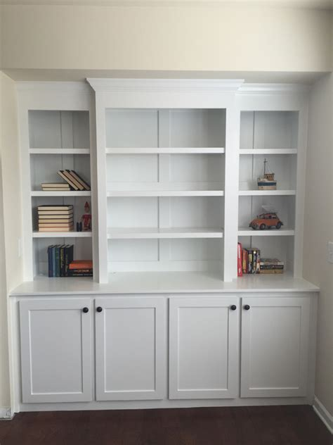 how to build a built in bookcase with doors ana white built in bookcase with lights diy projects