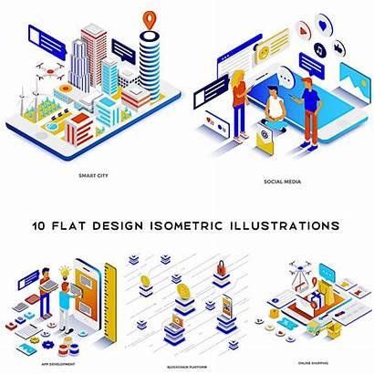 Illustrations Isometric Flat Cgispread