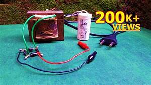 How To Make 12v Battery Charger Using Fan Capacitor
