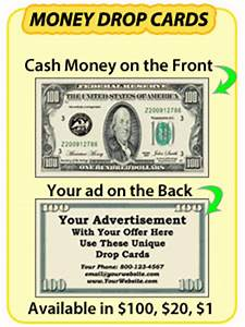 drop cards sizzle cards 20 dollar bill drop cards With 100 dollar bill drop card template