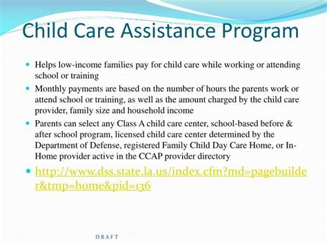 ppt other financial assistance options for pursuing post 374 | child care assistance program n