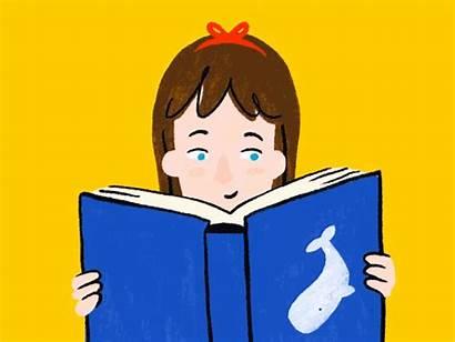 Matilda Reading Dribbble Characters Female Illustration Dahl