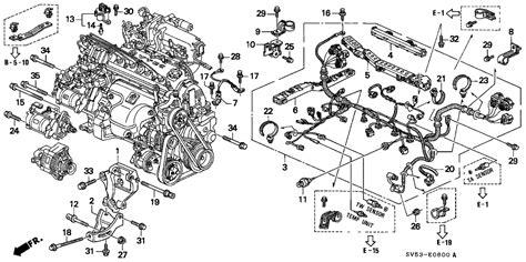 1997 Honda Accord Diagram by 94 Honda Accord Engine Diagram Automotive Parts Diagram