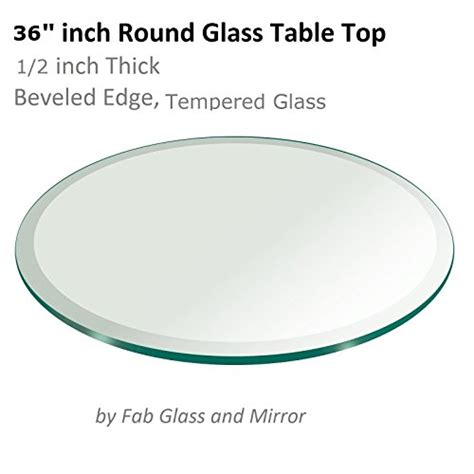 36 inch 1 2 inch thick beveled edge tempered glass