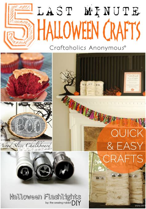 craftaholics anonymous   minute halloween crafts