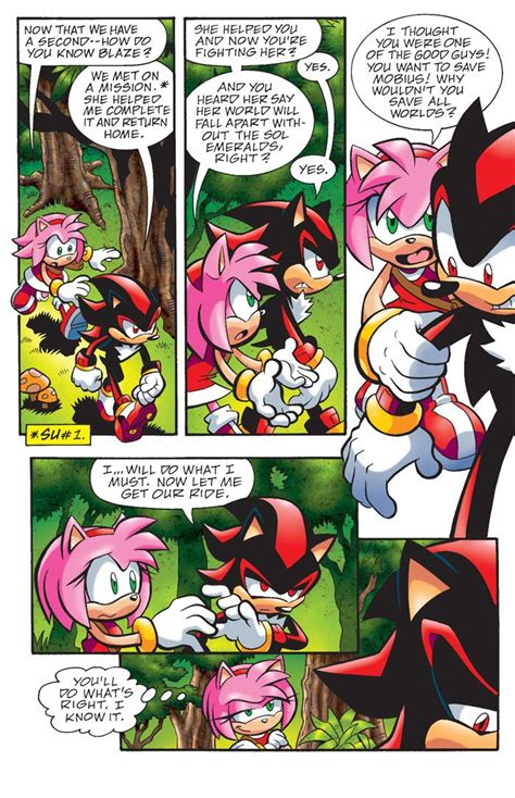 Amy Rose Guilts Shadow Hedgehog Sonic Comics