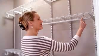 closetmaid shelftrack installation
