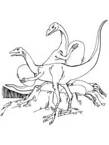 oviraptors stealing dinosaurs eggs coloring page  printable coloring pages