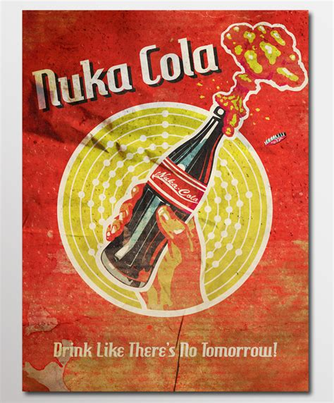 Fallout 3 Nuka Cola L by Nuka Cola Poster Fallout 3 My Inner Is Raging