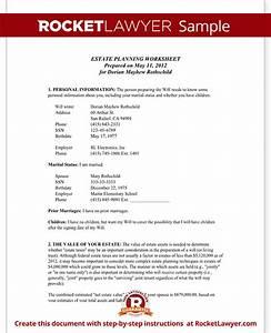 estate planning worksheet married With florida estate planning documents