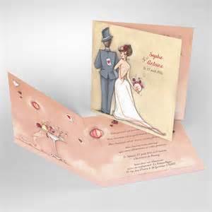 faire part mariage oui faire part de mariage original pas cher avec photo tendre espièglerie réf s41a r