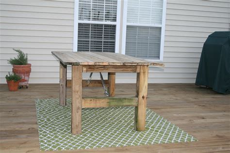 rustic outdoor dining table remodelaholic how to build a rustic outdoor dining table