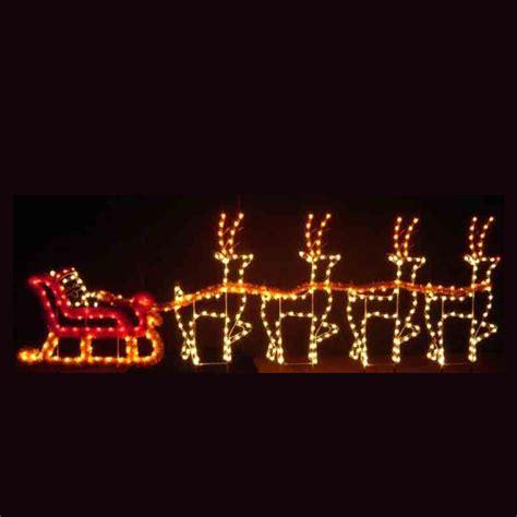outdoor light up santa holiday dreams santa sleigh led light display 30 39