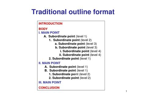 proper  outline format research paper