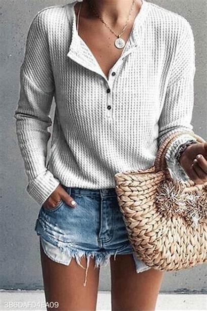 Shirt Button Shirts Blouses Blouse Casual Neck