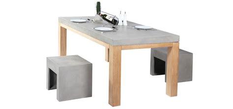 table cuisine grise achat table de cuisine en béton et bois grisemon coin design