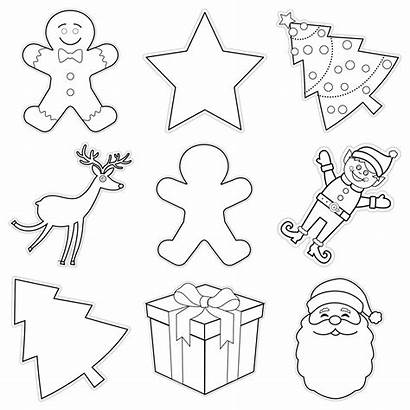 Christmas Collage Cutouts Ornaments Classroom Cut Outs