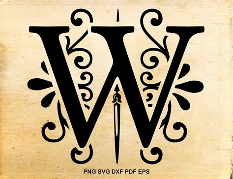 monogram letters svg initial svg monogram font regal