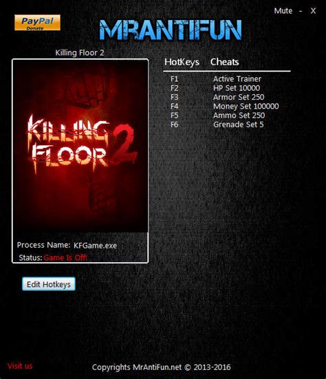 killing floor 2 hacks killing floor 2 trainer 5 v1033 mrantifun download cheats codes trainers