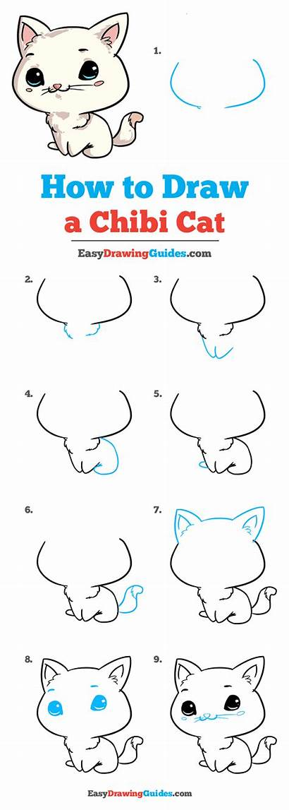 Chibi Cat Draw Drawing Tutorial Easy Learn