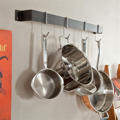 Small Pan Rack by Kitchen Inspiring Hanging Kitchen Appliance Storage Ideas