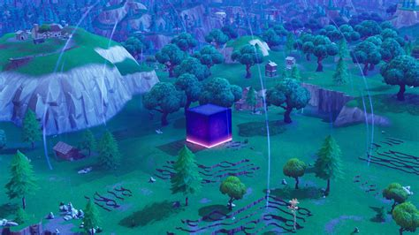 fortnite cube  glowing  emitting