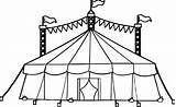 Circus Tent Coloring Pages Drawing Printable Camping Drawings Amusement Getdrawings Cartoon Specially Designed Inside sketch template