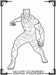 Marvel Infinity War Black Panther Coloring Pages Printable